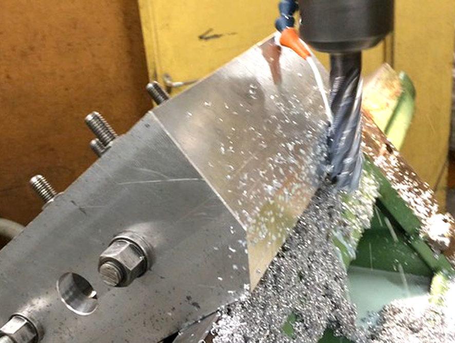 Rahmenführungen für Sägegatter aus Dural Werkstoff